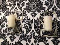 2 candle holders light green with flowers for $9 and as picture Vaughan, L4L 7G4