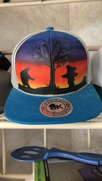 Snap back grateful dead hand-painted 57 km