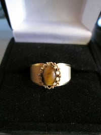 Vintage, U N C A S Tigers Eye Ring Edmonton