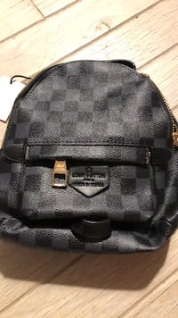 black and gray leather backpack Boca Raton, 33434