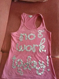 Rosa y gris No Work Today print top Arriondas, 33540