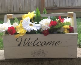 Old Wooden Toolbox Planter