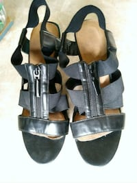 Black strappy heels Erie, 16510