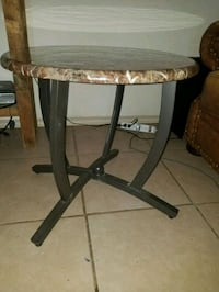 brown and white wooden side table Laredo, 78041