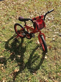 "16"" Lightning McQueen bike with training wheels"