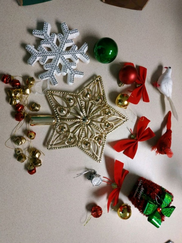 Price Reduced Tree And Christmas Decorations