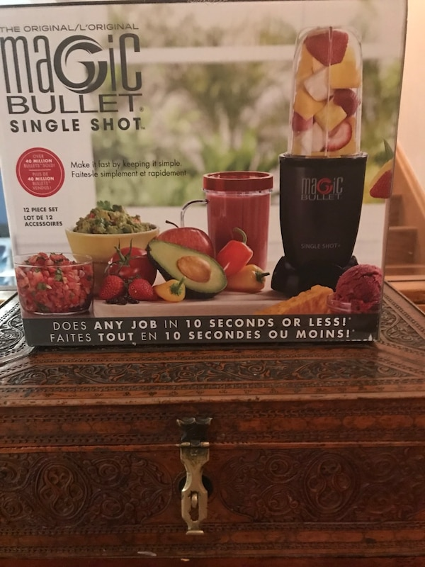 Magic bullet never used