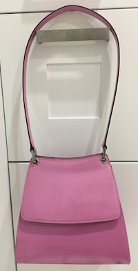 Bally Pink Patent Leather Structured Shoulder Handbag Purse Chicago, 60611
