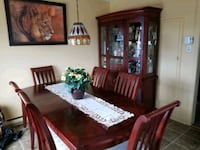 brown wooden dining table set Montréal, H1T 2X4
