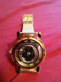 round gold-colored chronograph watch with link bracelet Kissimmee, 34743