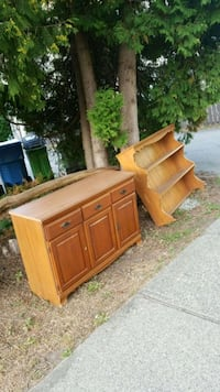 brown wooden 3-drawer chest Vancouver, V5N