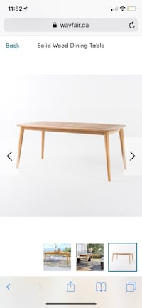wooden table Markham, L3T 6V1