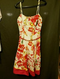 women's white and red floral spaghetti strap dress Baytown, 77521