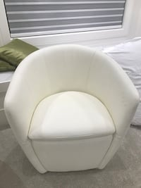 White leather padded sofa chair Richmond, V7C 3C5