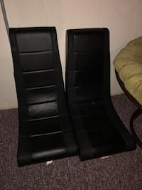 PPU  Two black leather padded chairs Columbus, 43081