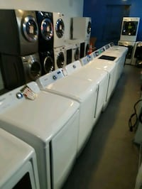 SAMSUNG TOP LOAD WASHER AND GAS DRYER SET WORKING PERFECTLY