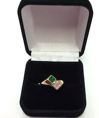 Lady Ring with Synthetic Emerald  National City, 91950