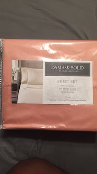 Melon colored 500 thread twin sheet set Washington, 20019