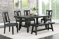 6pc Dining Table Set  Ontario