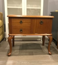 Brown wooden side table Toronto, M6G 3T1