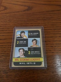 1971/72 Scoring Leaders...Esposito Orr Ratelle