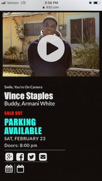 Vince Staples @ 9:30 Club (SOLD OUT) Sat Feb 23rd Takoma Park