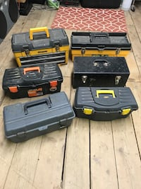Lot of misc tool boxes $25/all