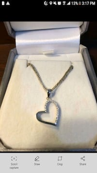 Heart necklace - White gold with diamonds St. Catharines, L2T 3E6