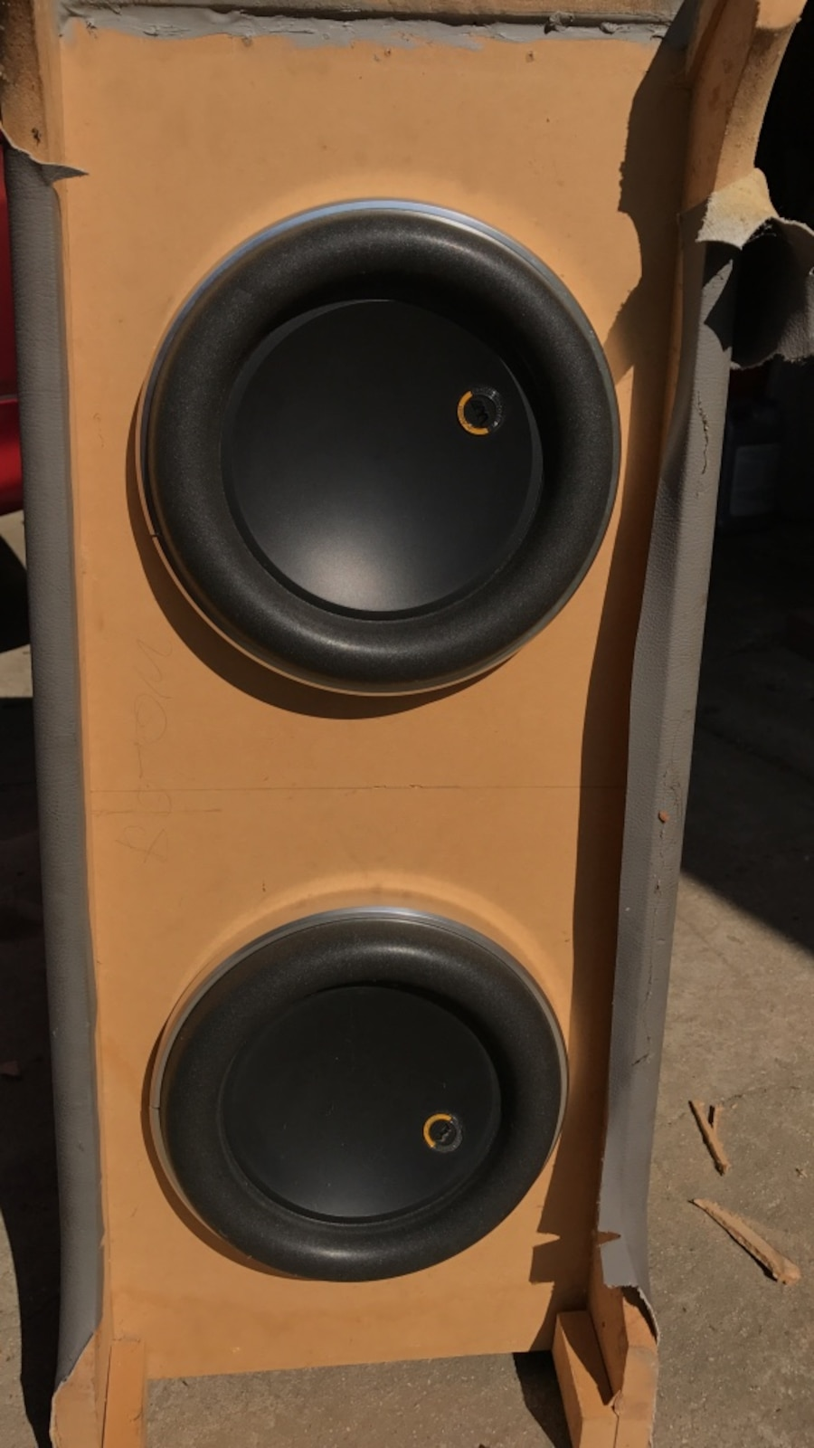 "Two JL W7 special edition 8"" woofers"