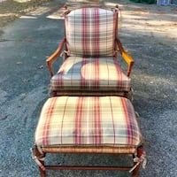 Designer Maple Chair & Ottoman by Wesley Hall 788 mi
