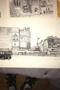 Bernard Smith's pen and ink drawings of landmarks in London Goodlettsville, 37072