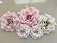 Set of five paper roses