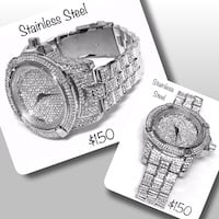 Heavy stainless steel Iced out watches  Winnipeg