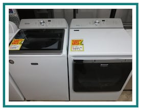 New scratch and dent Maytag Bravos XL washer and dryer