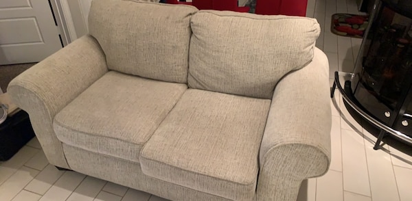 Outstanding Gray Fabric Live Chair And Sofa Like New From Badcock 3 Yr Warranty Andrewgaddart Wooden Chair Designs For Living Room Andrewgaddartcom