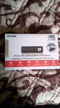 D-link ac 1200 dual band usb wifi adapter London, N6J