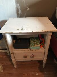 Nice wood night stand could use a sanding & re-painted if youd like