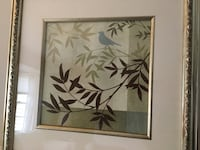 White and green flower painting with brown wooden frame Scotch Plains, 07076