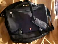 Swiss gear black leather 2-way laptop  bag  Winnipeg, R3B 3C3