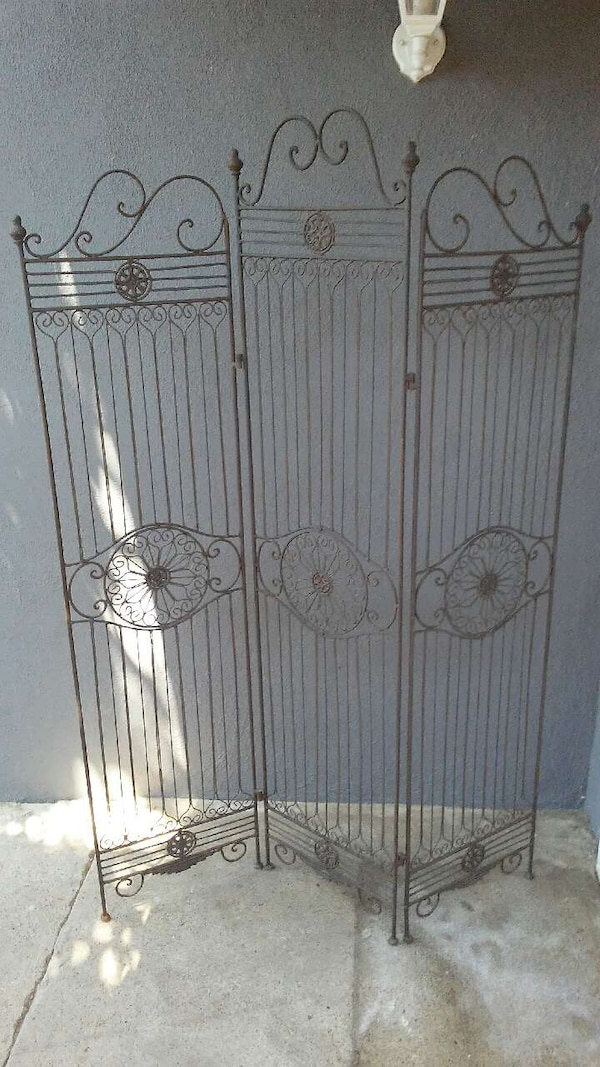Used Black Metal Room Divider For Sale In Carson