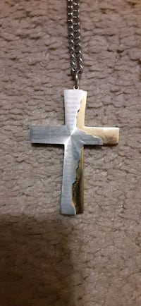Our Father Prayer Cross Necklace