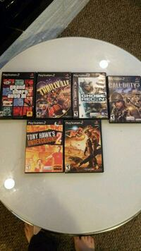 6 ps2 games , good condition  Surrey, V3V 5L3