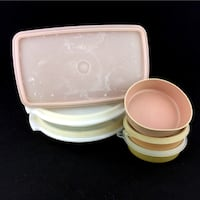 Lot 6 Vintage Tupperware Set Bowls Food Storage Containers Suzette 816 Port Colborne