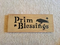 brown wooden Welcome to our Home wall decor Butler, 16001