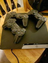 Sony PS3 slim console with 3 controllers Abbotsford, V2S 5N5