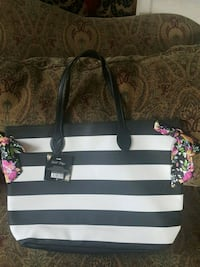 black and white leather tote bag Maryville, 37804