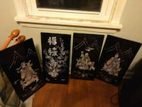 4 Asian Style Wallhangings Brooklyn, 44144