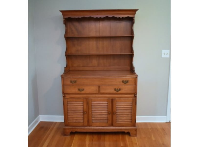 Solid Maple Kitchen Hutch Pickup Only