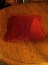 Red Velour Armchair Cover - like new condition! Hazleton