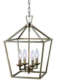 Antique silver Latern pendant light - Black and gray metal frame Nashville, 37216